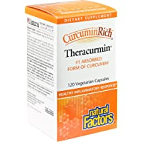 CurcuminRich by Natural Factors, Theracurmin, Supports Natural Inflammatory Response, Joint and Heart Function, 120 Capsules (120 Servings)