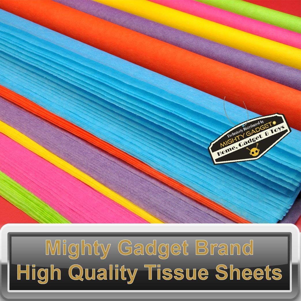 Solid White Colored Tissue Paper Sheets 15 x 20 100 Pack x Mighty Gadget R