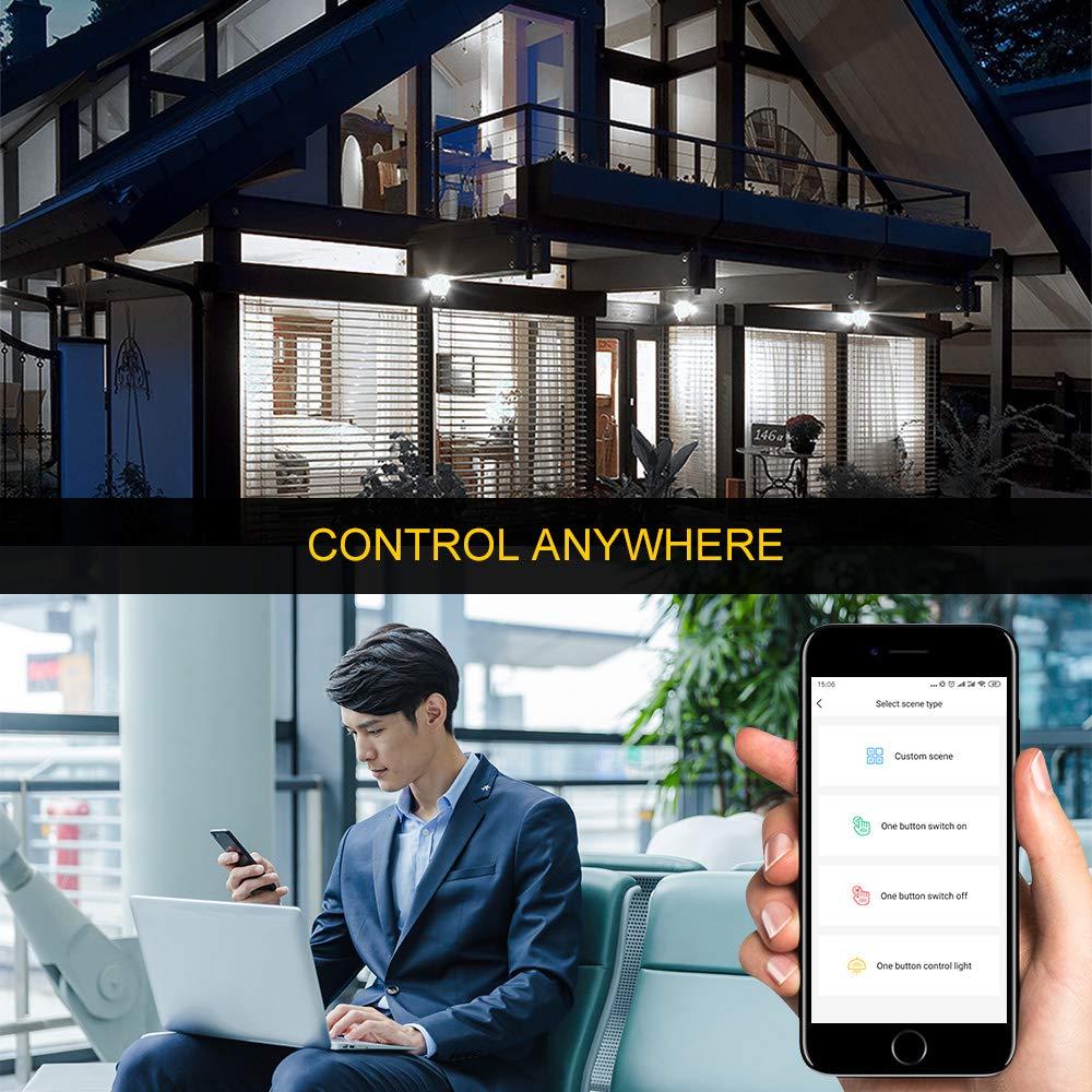 15 W, 1200 l/úmenes, compatible con Alexa Google Assistant IFTTT, para el hogar, dormitorio A0ZBZ B22 color blanco, 5700 K Bombilla WiFi