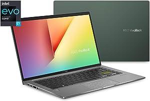 "ASUS VivoBook S15 Thin & Light Laptop, 14"" FHD Display, Intel Core i7-1165G7 Processor, 8GB LPDDR4X RAM, 512GB PCIe SSD, Thunderbolt 4, Wi-Fi 6, Windows 10 Home, Deep Green, S435EA-BH71-GR"