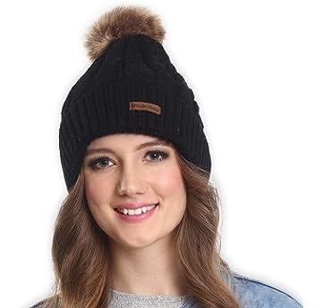 d5509a46f65 Amazon.com  OMECHY Women s Winter Knit Hat Trendy Slouchy Beanie ...