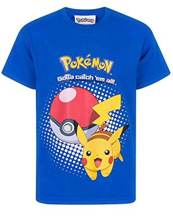 c7ed880b Pokemon Pikachu Pokeball Kids T-Shirt: Amazon.co.uk: Clothing