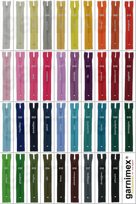 18 cm x 10 Unidades, no Divisible Color Gris Claro garnimex Cremallera