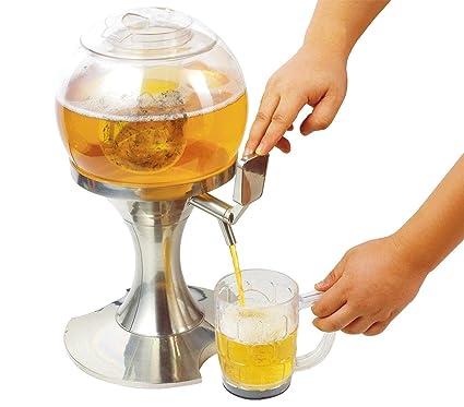 Dispensador de bebidas gaseosas y clavija de 3,5 litros con compartimento para hielo independientes