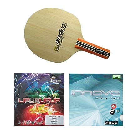 Amazon com : Andro Fibercomb Defensive +Stiga Innova Ultra light +
