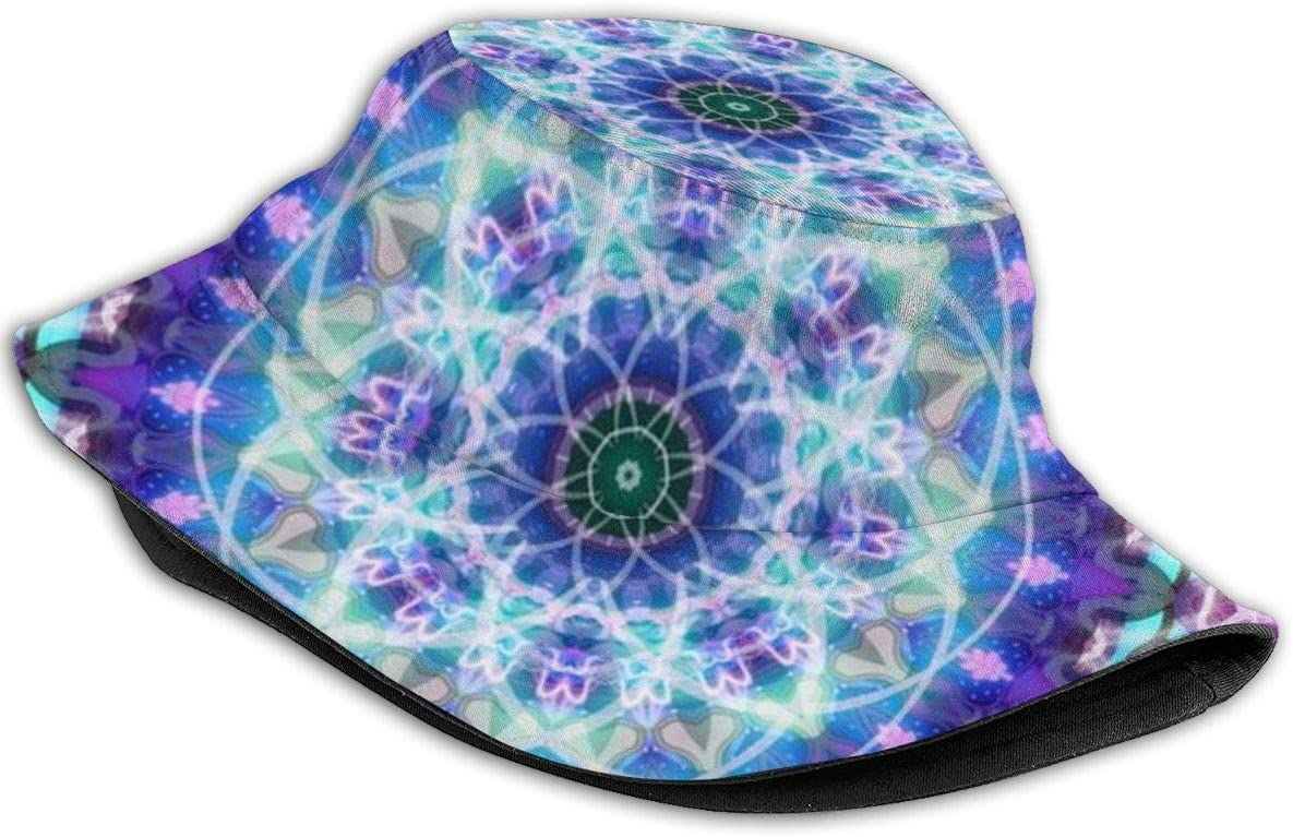cvbnch Bobs Homme Unisex Washed Cotton Bucket Hat Summer Outdoor Cap Psychedelic Multi Color Marijuana Leaf Weed Art Sunscreen