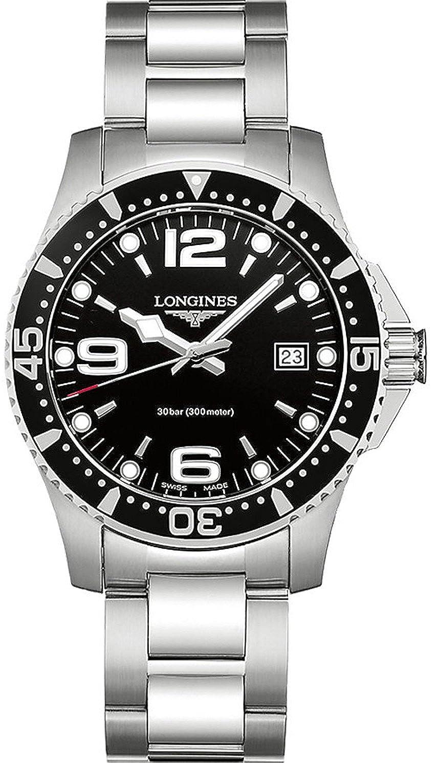 6fedc4201 Longines Hydroconquest Diving Men's Watch L37404566, 41 mm: Amazon.co.uk:  Watches