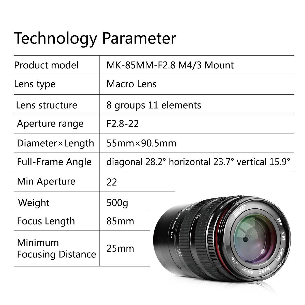 Meike MK 85 mm F/2,8 manuel odaklama: Amazon.de: Kamera