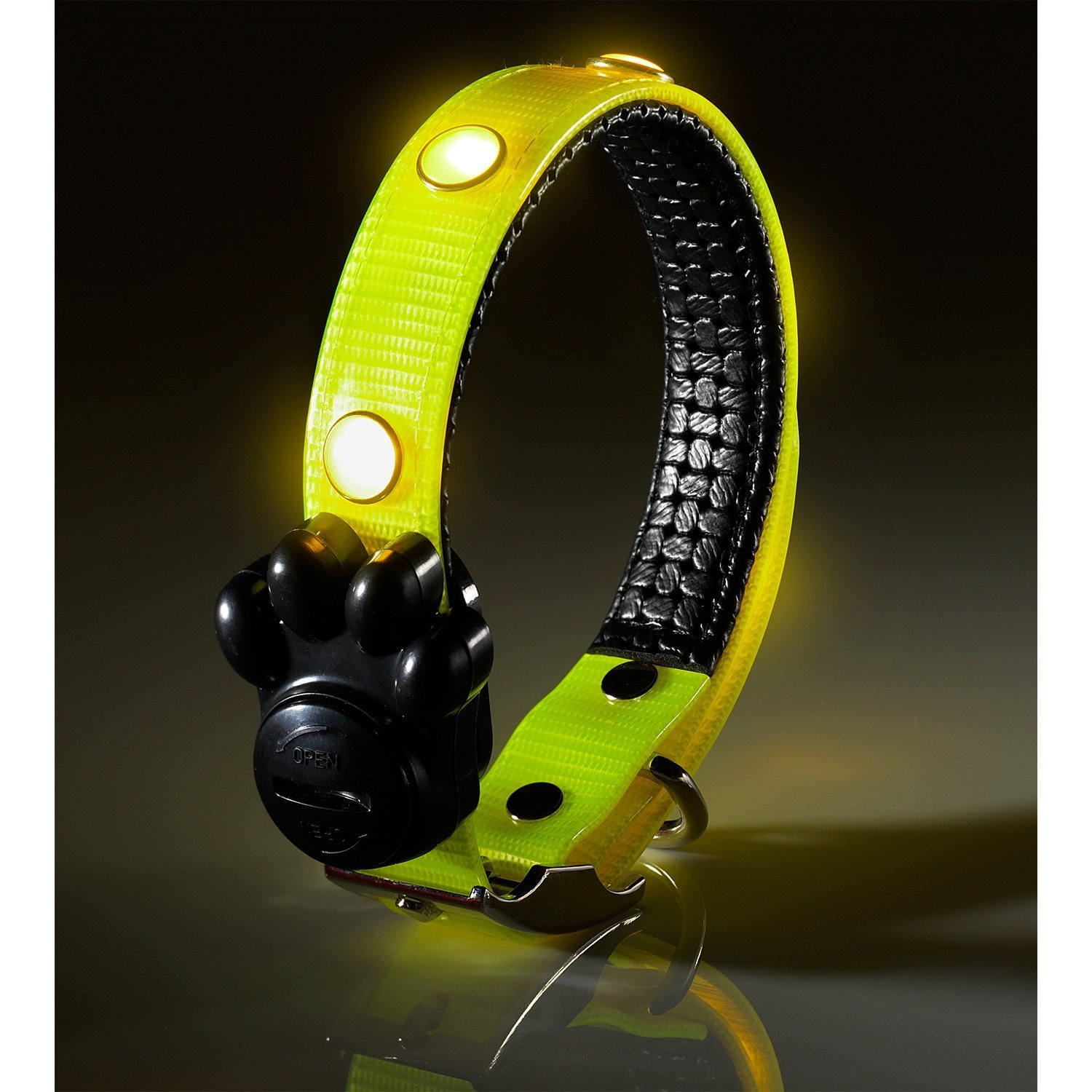 up green product night soft waterproof silicone adjustable necklace length collar ae dog safety usb led good pet light flashing rechargeable