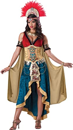 Amazon.com GTH Womenu0027s Historic Mayan Queen Aztec Deluxe Theme Party Fancy Costume Clothing  sc 1 st  Amazon.com & Amazon.com: GTH Womenu0027s Historic Mayan Queen Aztec Deluxe Theme ...