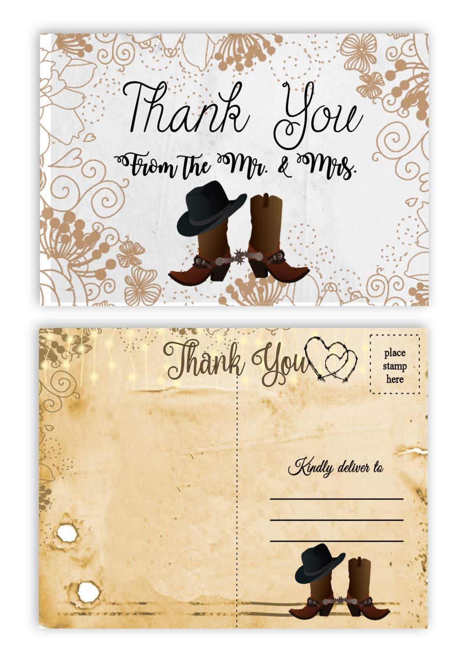 Amazon Com Country Western Rustic Postcard Wedding Bridal