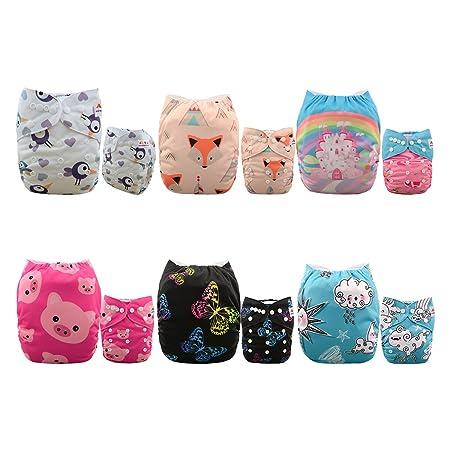 Alva Baby Pocket Cloth Nappies Reuseable Washable 6PCS Diapers + 12PCS Inserts 6DM35-EU