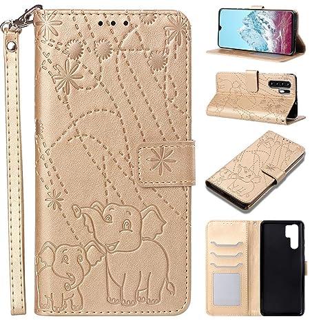 032d941a1a MeganStore Cover Huawei P30 PRO - Disegno Animato Elefanti - Custodia a  Portafoglio in Pelle con