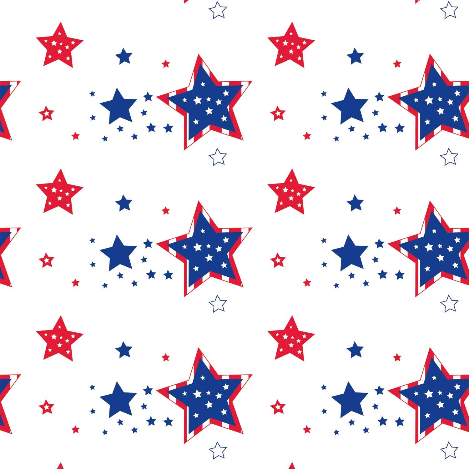 Party Essentials Heavy Duty Printed Plastic Table Cover Available in 44 Colors, 54'' x 108'', Patriotic Stars by Party Essentials