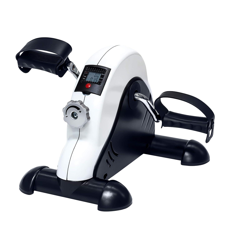 TechFit Mini Fahrrad, Heimtrainer für Zuhause und Büro, mit Anti-Rutsch-Beständigkeit und LCD Monitor, geeignet für leichte Kardio und therapeutische Anwendung
