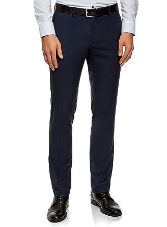 Homme Ultra PlisBleuFr Slim 44lAmazon Oodji Pantalon Avec Tcul13FKJ
