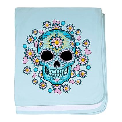 20f28ec983 Amazon.com  CafePress - Colorful Sugar Skull - Baby Blanket