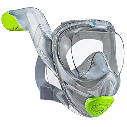 46135ed7b WildHorn Outfitters Seaview 180° V2 Full Face Snorkel Mask with FLOWTECH  Advanced Breathing System -
