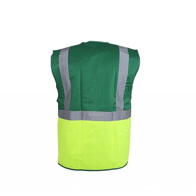 Yoko ® VIZ Promo waistcoats chaleco reflectante con bolsas y cremallera verde