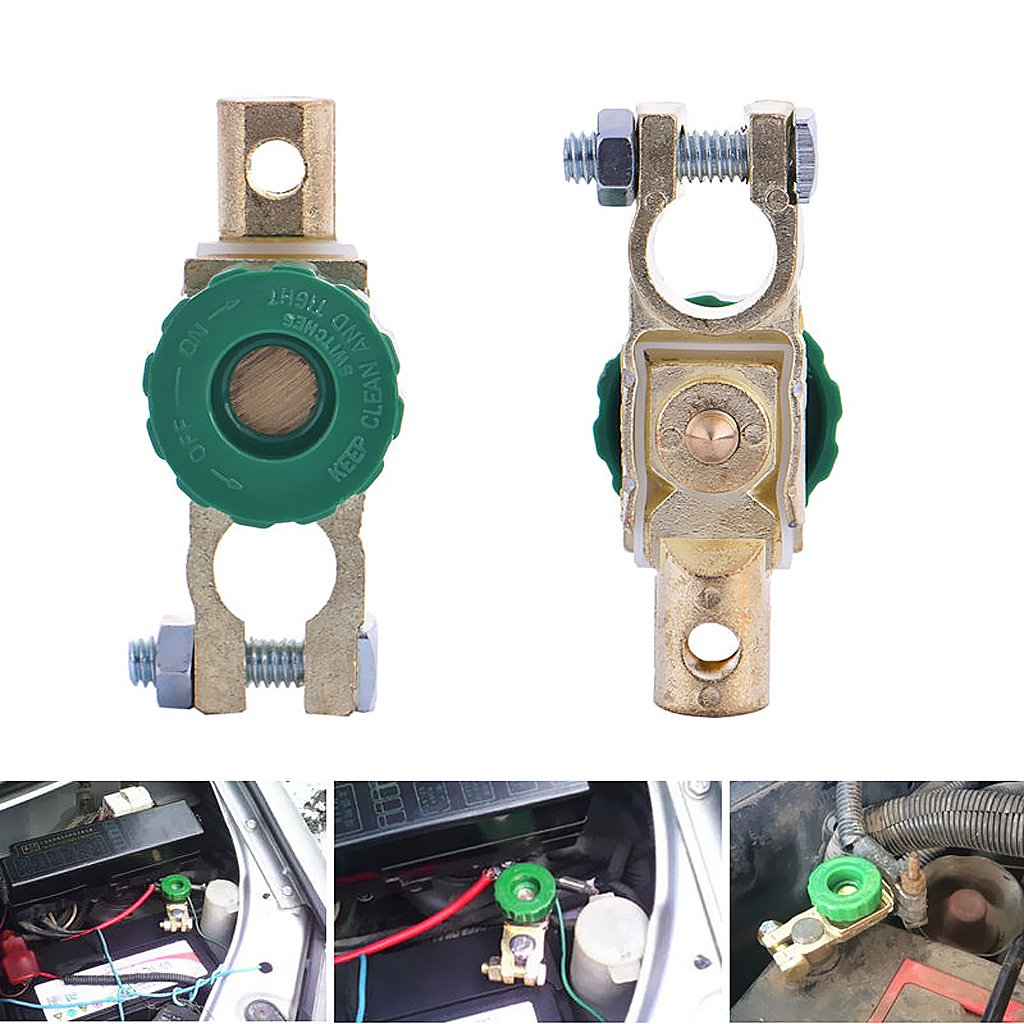 MagiDeal 1 Piece Universal Battery Terminal Link Switch Disconnect Isolator Quick Cut-off for Car Truck Boat RV /& ATV Vehicles