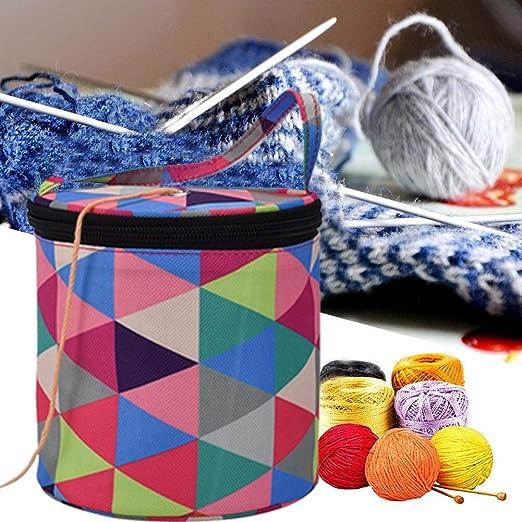 Welltobuy Bolsa para Crochet Bolsa De Labores De Punto ...