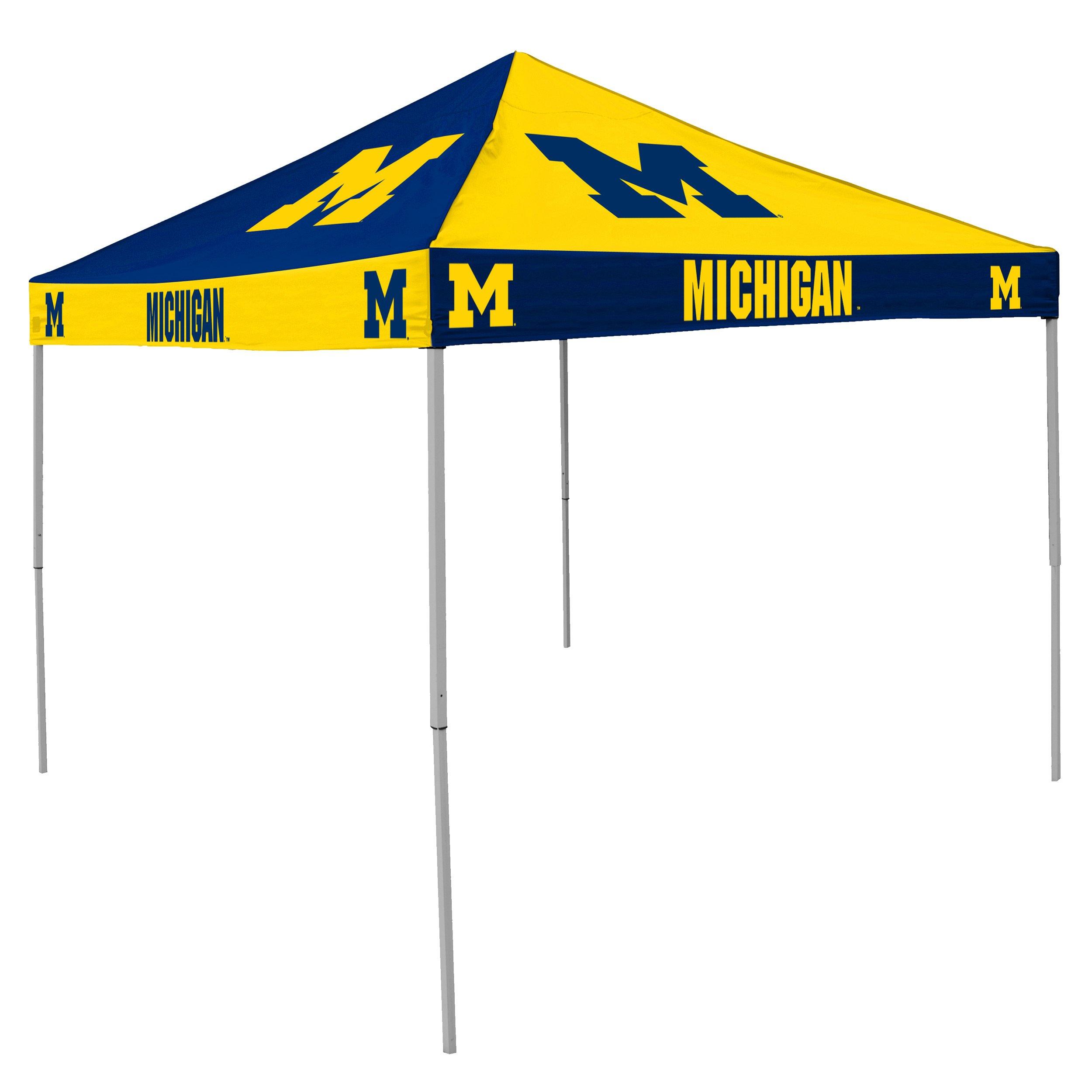 NCAA Michigan Wolverines 9-Foot x 9-Foot Pinwheel Tailgating Canopy, Navy/yellow