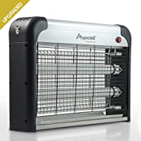 [Upgraded] Aspectek 20W Electronic Insect Zapper, Bug Killer for Indoor use - Effective Against Flies, Moths, Mosquitos, Cockroaches, Wasps, Beetles and Bugs - Kill Insects + Bulbs