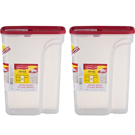 Rubbermaid Flip Top Cereal Keeper, Modular Food Storage Container,  BPA Free, 22