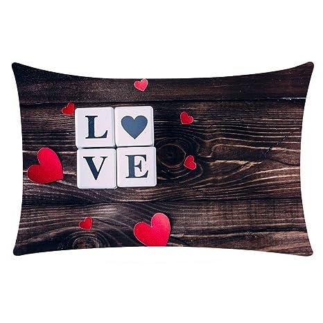 MOIKA Funda de cojín, día de San Valentín, Decorativa, con ...
