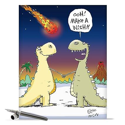 Amazon funny dinosaur make a wish happy birthday card giant funny dinosaur make a wish happy birthday card giant 85quot x 11quot m4hsunfo