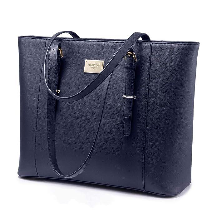 Navy Teacher tote bag with laptop pocket