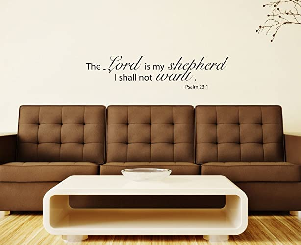 Psalms 23 The LORD is My Shepherd Wall lettering Vinyl Decal Bible Verse 23x47
