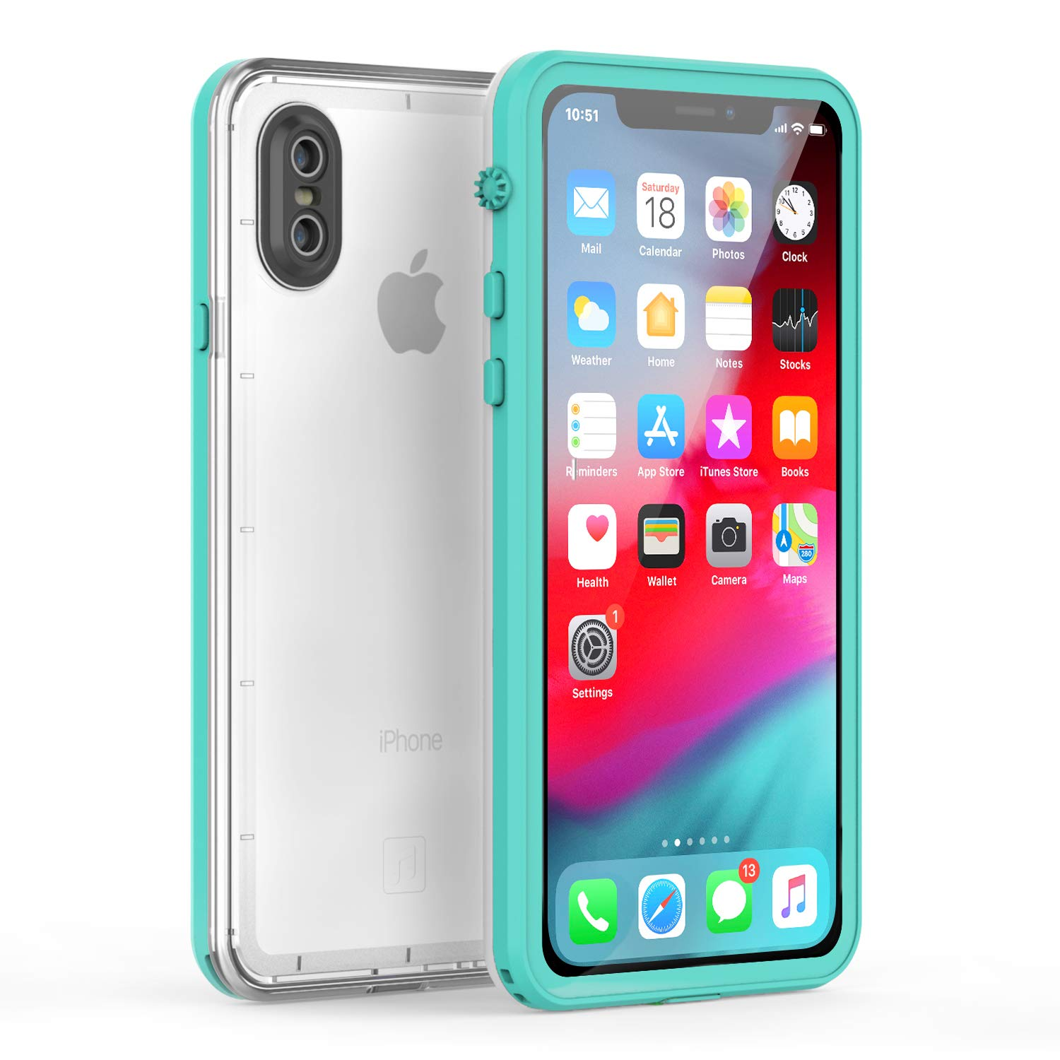 buy popular 97183 f450b Fansteck iPhone X Waterproof Case/iPhone Xs Waterproof Case - Ultra Slim  Full Sealed IP68 Waterproof Case for iPhone X/Xs - High Sensitive Touch  with ...