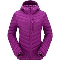CAMEL CROWN Chaqueta de Plumón Invierno para Mujer Chaquetas de Esquí Ligero con Capucha, Jacket Nieve para Acampada y…