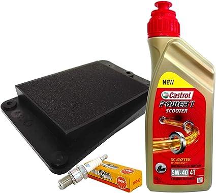 Castrol 5 W40 aceite filtro de aire vela Tweet Symphony 50 125 150: Amazon.es: Coche y moto
