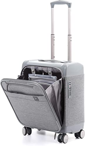 Unitravel 16 inch Carry on Business Suitcase Lightweight Underseat Spinner Luggage with TSA Lock Grey