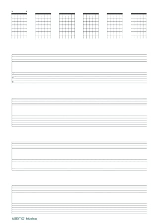 Additio Tab - Cuaderno de música para guitarra, color lila: BLOCK MUSICAL: Amazon.es: Oficina y papelería