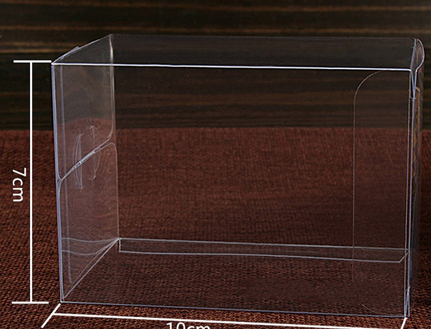 3 x 3 x 3 cm 20pcs x Clear Plastic PVC Weddings Party Favours Gift Packaging Boxes Size Choice