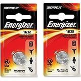ENERGIZER Cr1632 DI1632 Lot de 2 piles boutons au lithium pour clés de voiture 3V