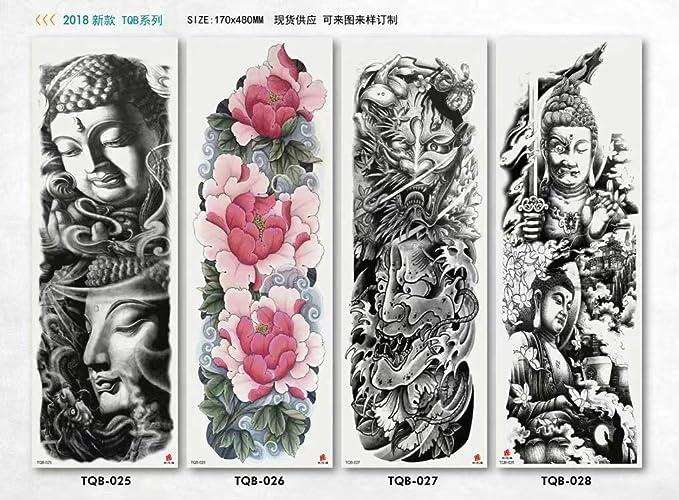 tzxdbh 2 Unids-Tattoo Sticker Impermeable Brazo Completo Tatuaje ...