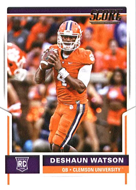 official photos eb623 e75a7 2017 Score #361 Deshaun Watson Clemson Tigers Rookie Football Card Houston  Texans 1st Round Pick #12