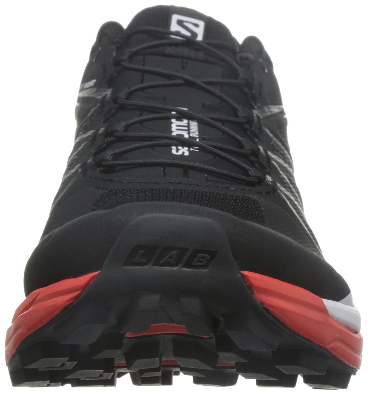 Salomon L39195900, Chaussures De Randonnée Unisexe Adulte, Noir (noir / Course Rouge / Blanc), 46 Eu
