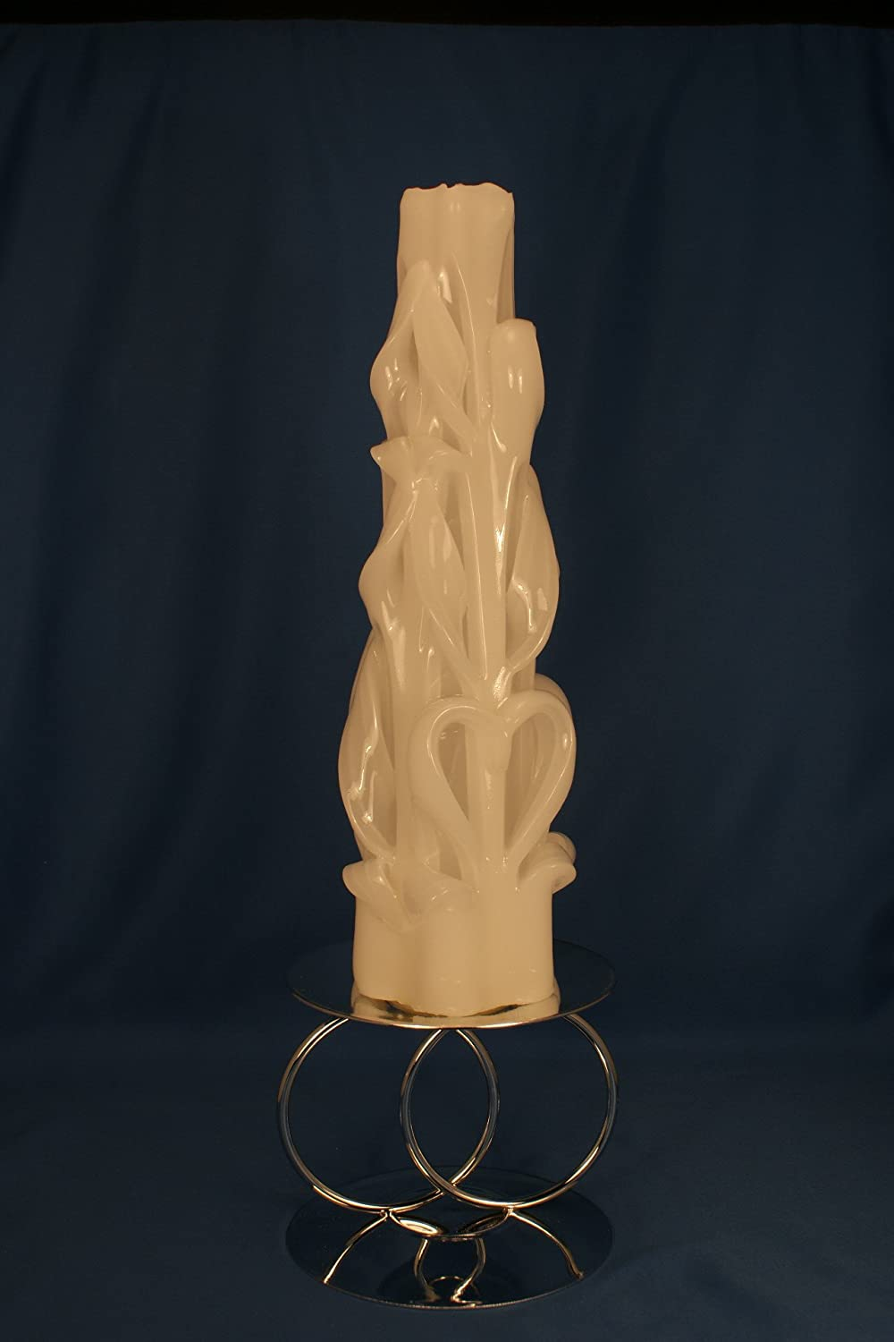 Double Heart Carved Unity Candle GOS