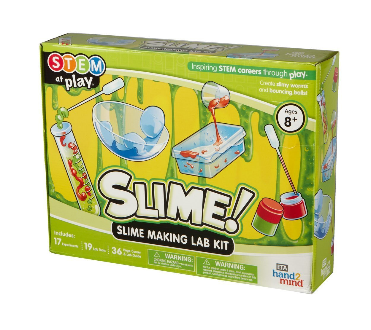 7eba74d81 Science Slime Making Lab Kit For Kids (Ages 8+) - Build 14 STEM Career  Experiments & Activities   Create DIY Slimy Worms, Bouncing Balls, & More!