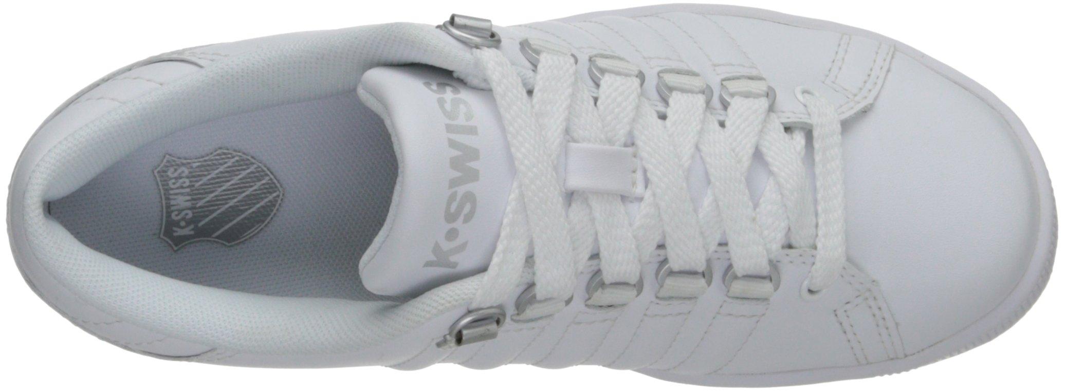 K-Swiss 8110 Lozan Sneaker (Big Kid),White/White/Silver,3.5 M US Big Kid by K-Swiss (Image #8)