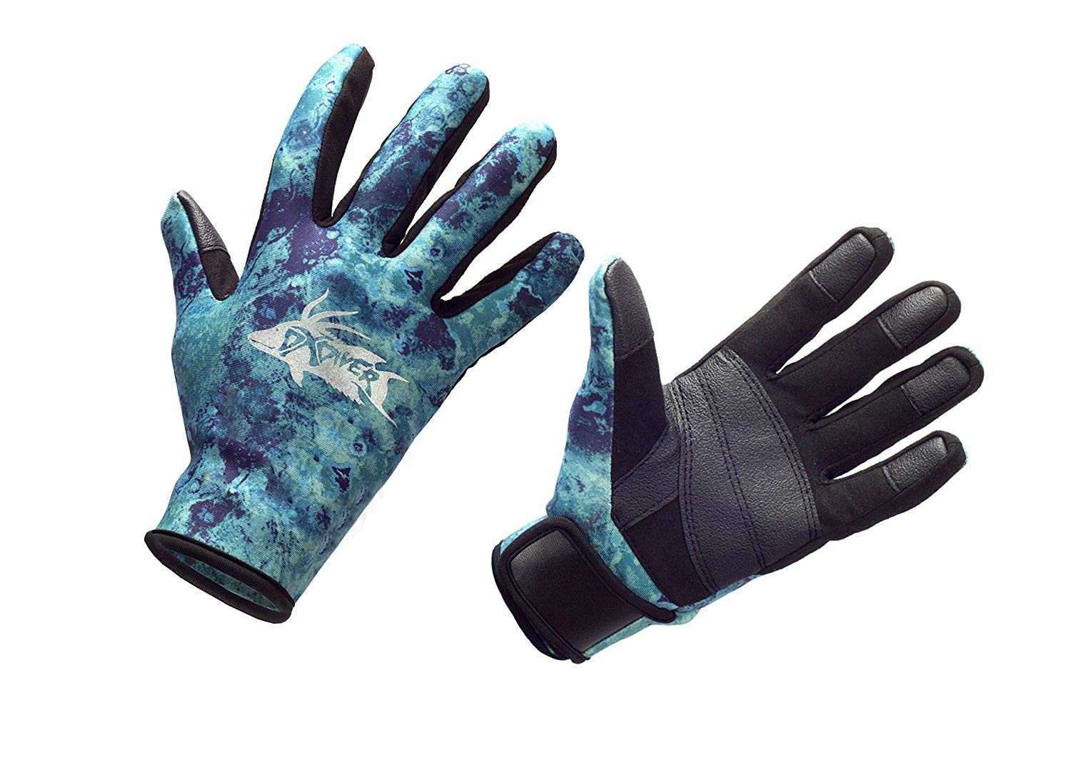 DXDiver Automatic Pole Spear, Camo Amara 2mm Neoprene Gloves & Sopras Sub Knife Scuba Diving Freediving Spearfishing (Black Handle Stainless Steel Blade, Medium Gloves) by DXDiver (Image #5)