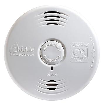 Kidde P3010B Worry Free Bedroom Photoelectric Smoke Alarm with Voice Alarm  and 10 Year Sealed. Kidde P3010B Worry Free Bedroom Photoelectric Smoke Alarm with