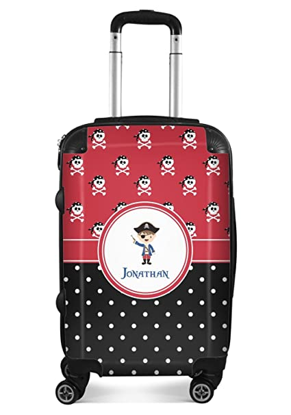 Personalized 24Medium Pink Pirate Suitcase Checked
