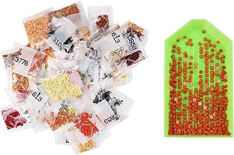 artesan/ía decoraci/ón de pared con 24 herramientas profesionales pintura de diamantes 5D kit de pintura para adultos pintura completa de estr/ás SULISO 2 kits de pintura de diamante 5D