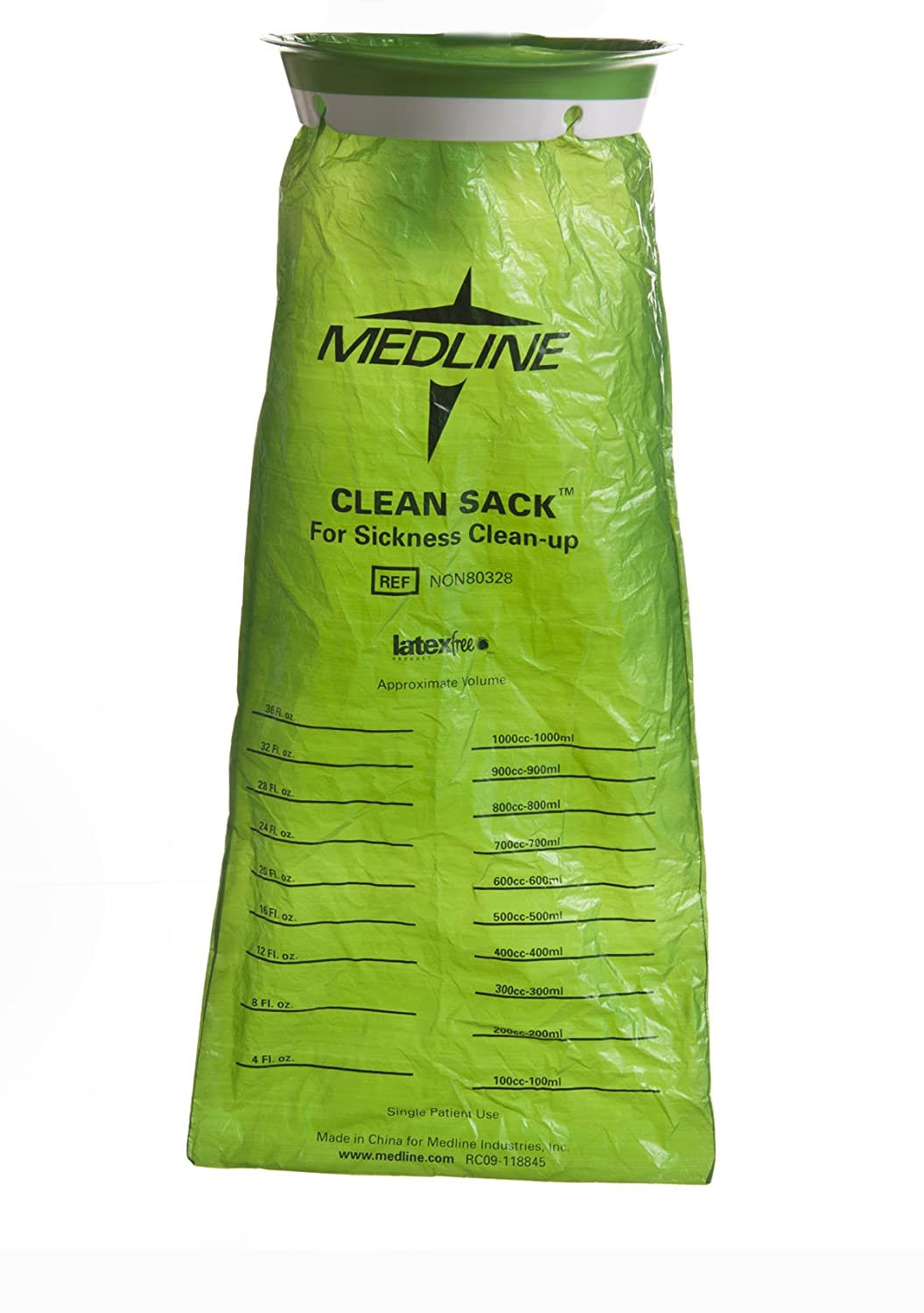 Amazon.com: Medline NON80329 Hi-Density Latex Free Emesis Bags (Pack of 144): Health & Personal Care
